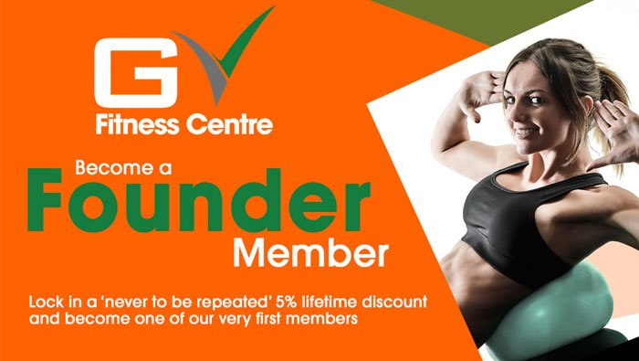 Become a founder member at GV Fitness Centre